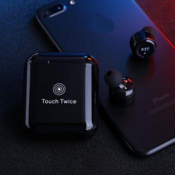 Беспроводные наушники X3T Touch Twice Black