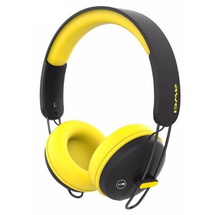 Беспроводные наушники Awei A800BL Black/Yellow