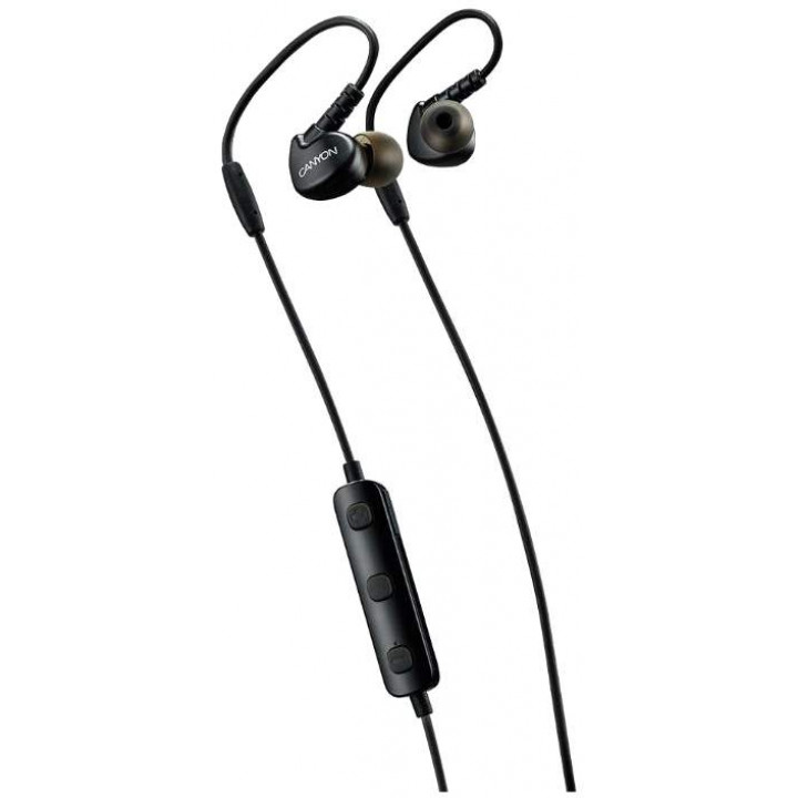 Беспроводные наушники Canyon Wireless Bluetooth Sporty Earphones Black