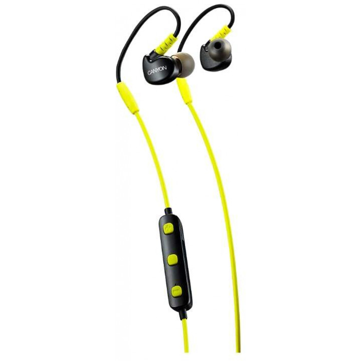 Беспроводные наушники Canyon Wireless Bluetooth Sporty Earphones Yellow