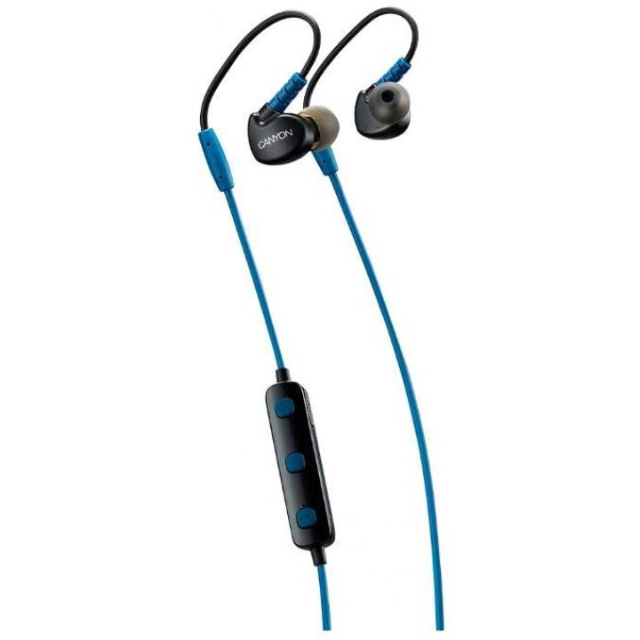 Беспроводные наушники Canyon Wireless Bluetooth Sporty Earphones Blue