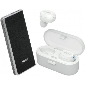 Беспроводные наушники InterStep SBH-520 White + Powebank PB6000 Black