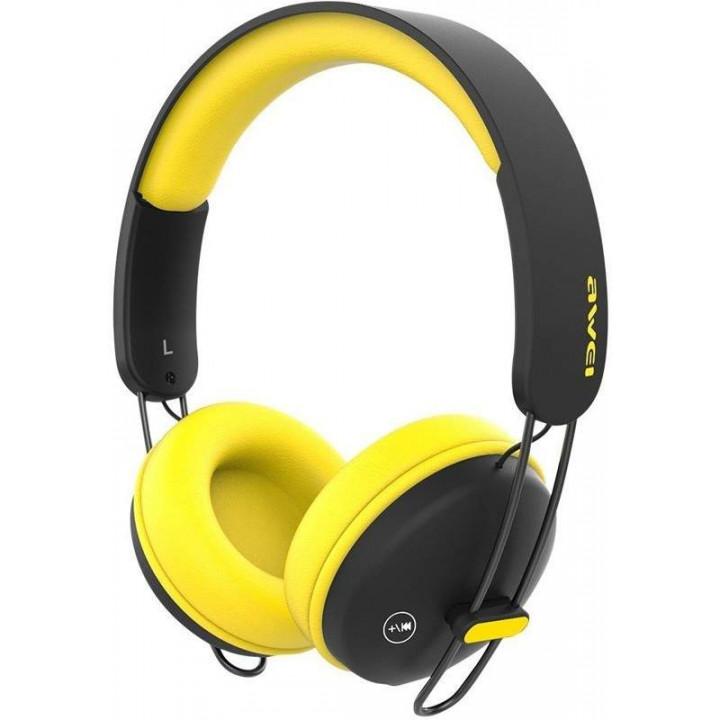 Беспроводные наушники Awei A800BL Yellow/Black