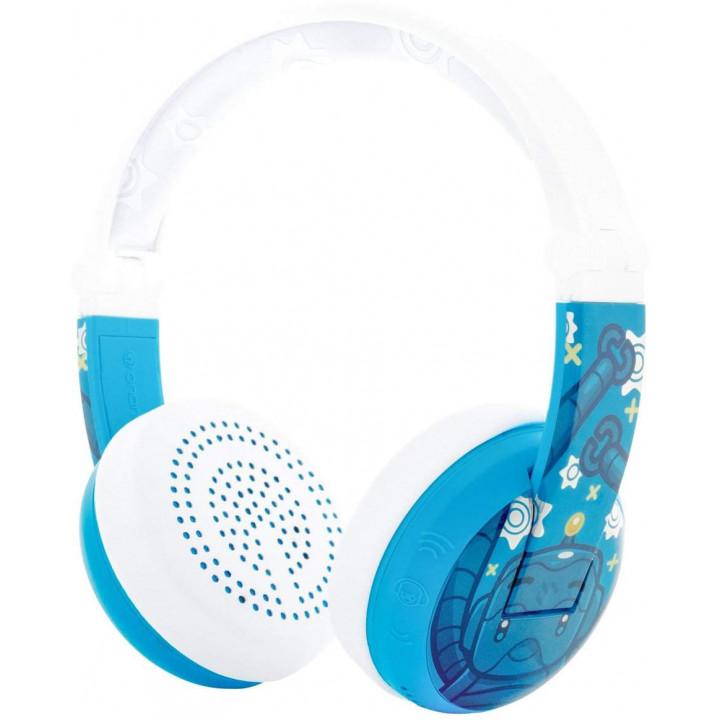 Беспроводные наушники BuddyPhones Wave Robot Blue