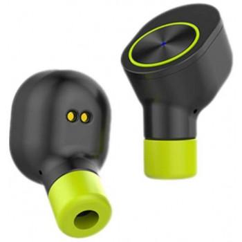 Беспроводные наушники QCYBER V1 Black\Green зарядный чехол (450мАч)