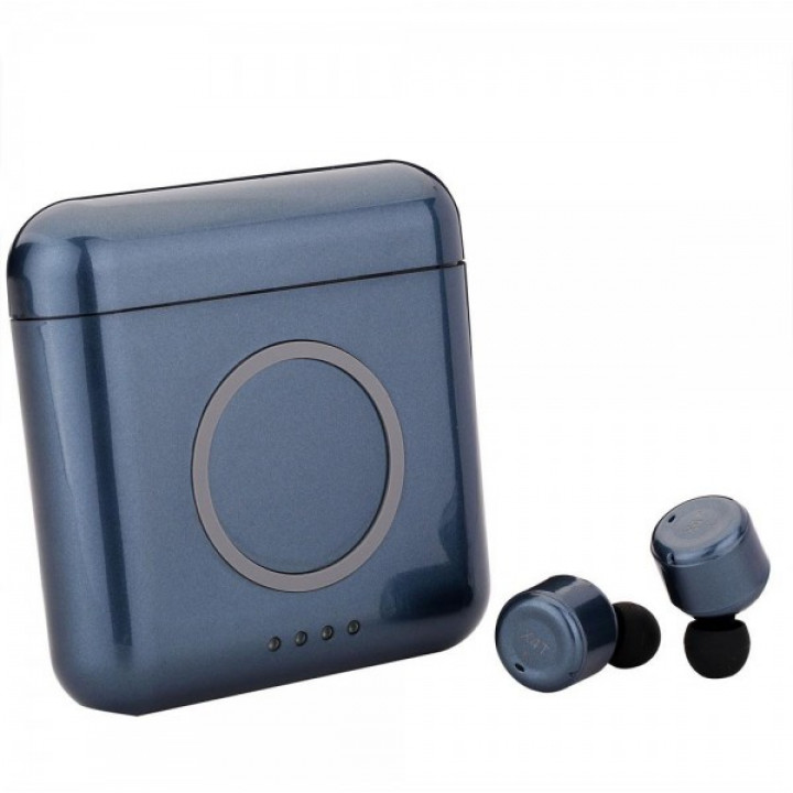 Беспроводные наушники TWS X4T с зарядным кейсом и power bank 5200 mAh Blue
