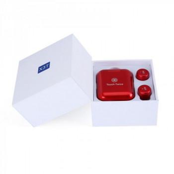 Беспроводные наушники TWS X3T bluetooth Touch Twice Red