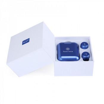 Беспроводные наушники TWS X3T bluetooth Touch Twice Blue