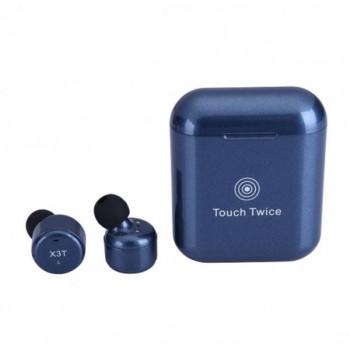 Беспроводные наушники TWS X3T bluetooth Touch Twice Dark Blue